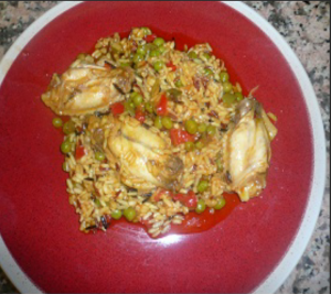 Arroz salvaje con pollo