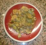 Pollo con alcachofas