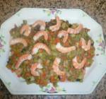 Verduras al curry con langostinos