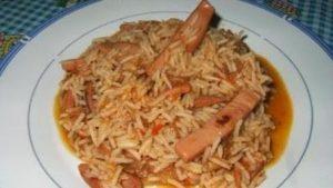 Calamares con arroz caldoso