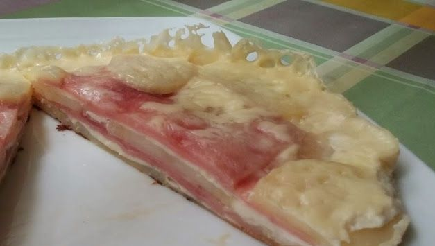 Lasaña de patata de jamón y queso