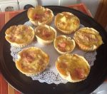 Miniquiches de patata, jamon york y queso
