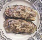 Calabacines y berenjenas rellenos