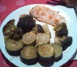 Brócoli y calabacín al vapor