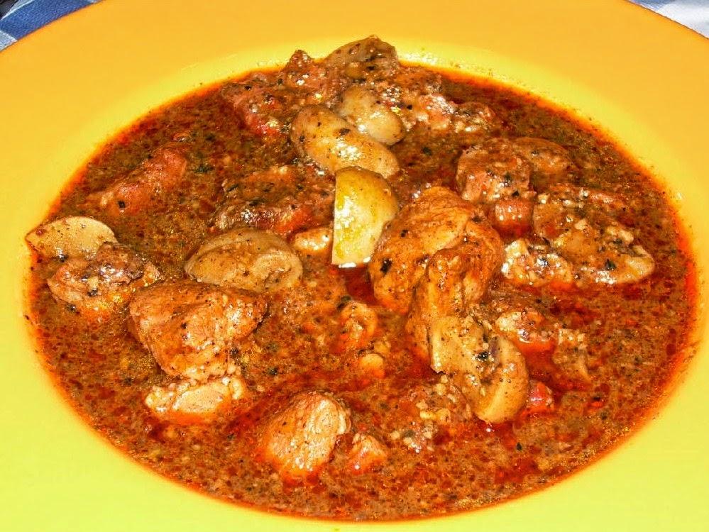 Carne en salsa de ñoras