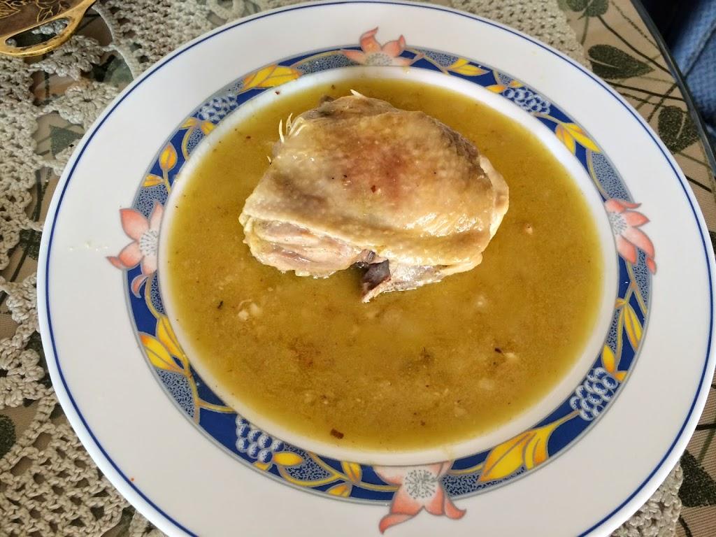 Pollo en salsa de almendras al aroma de azafrán