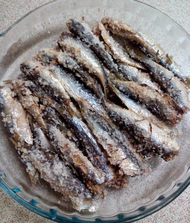 Sardinas a la sal (sardinas salonas)