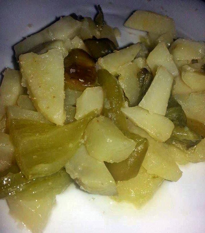 Patatas con pimientos