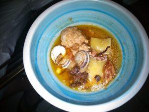 Albóndigas con caracoles