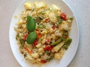 Bulgur con verduras al curry