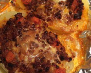 Receta patatas gratinadas a la boloñesa en olla GM Alfa
