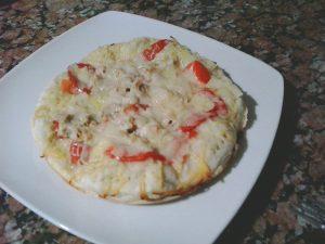 Receta de Pizza de atún con pimientos
