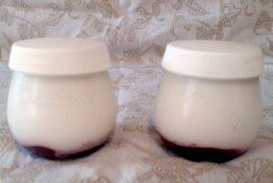 Yogur casero con mermelada