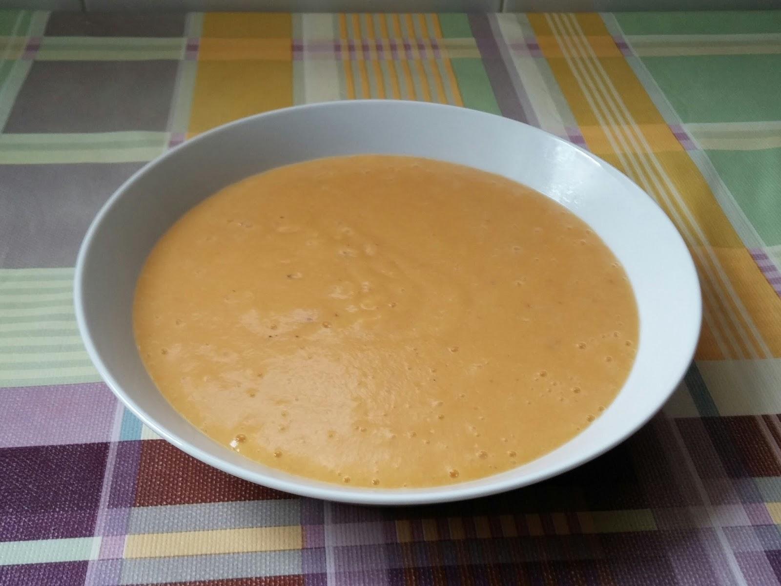 Crema de puerro con zanahoria