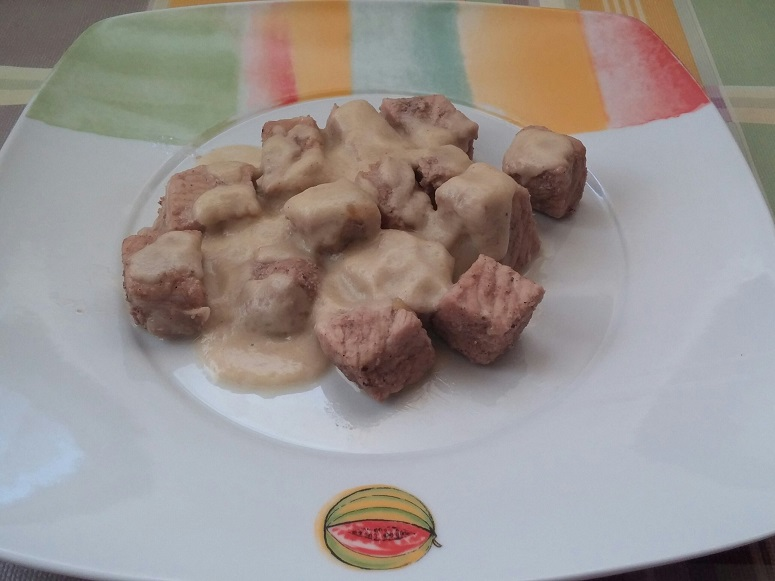 Tacos de lomo con salsa de manzana