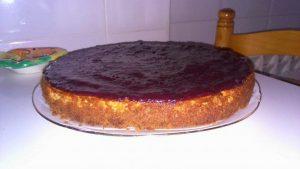 Receta de tarta de queso con mermelada en olla GM Alfa