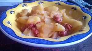 Receta de patatas con chistorra en olla GM Alfa