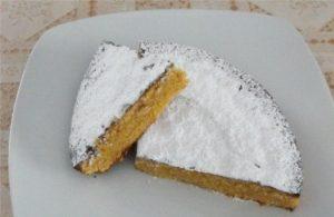 Tarta de almendra tipo tarta de Santiago