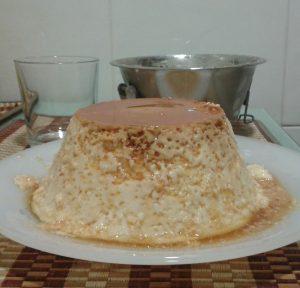 Flan de leche condensada usando molde de aluminio