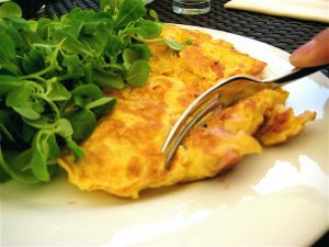 Tortilla con anchoas