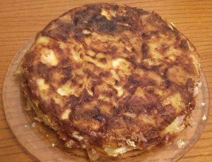 Pastel de patatas y bacón