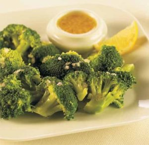 Brócoli en salsa de limón
