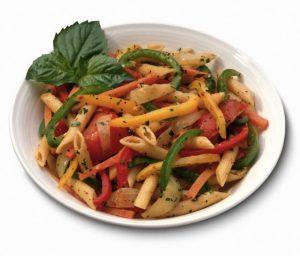 Macarrones integrales vegetarianos
