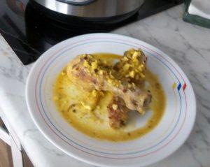 Muslos de pollo en pepitoria