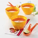 Sopa de tomate, coco y citronela