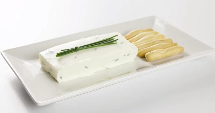 Pudin de queso gorgonzola