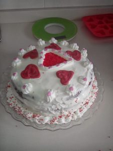 Tarta Red Velvet San Valentín