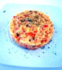 Arroz con lomo adobado